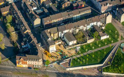 Ein schönes Luftbild unserer Baustelle in Duisburg, Eilperhofstraße.
