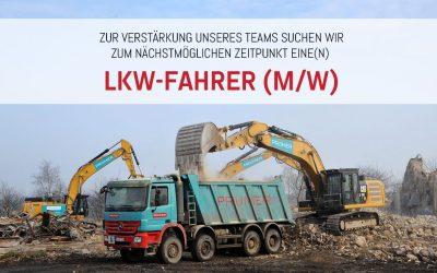 Jobangebot: LKW-Fahrer