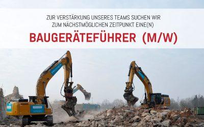 Jobangebot: Baugeräteführer (m/w)