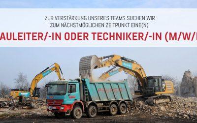 Jobangebot: Bauleiter/-in oder Techniker/-in (m/w/d)