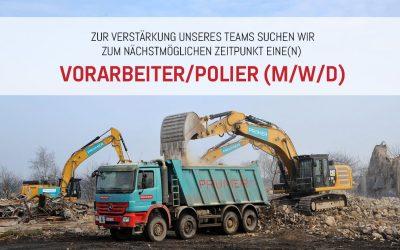 Jobangebot: Vorarbeiter/Polier (m/w/d)