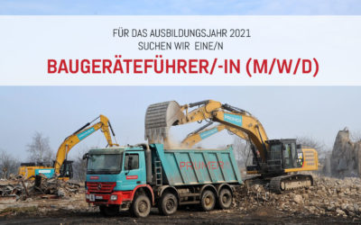 Auszubildende/r: Baugeräteführer/-in (m/w/d)
