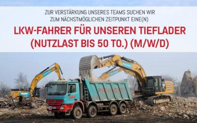 LKW-Fahrer für unseren Tieflader (Nutzlast bis 50 to.) (m/w/d)