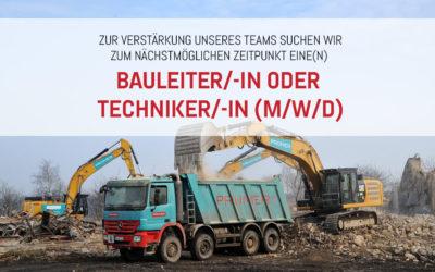 Bauleiter/-in oder Techniker/-in (m/w/d)